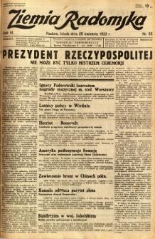 Ziemia Radomska, 1933, R. 6, nr 95