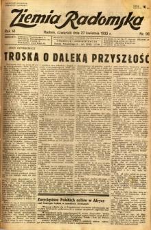 Ziemia Radomska, 1933, R. 6, nr 96