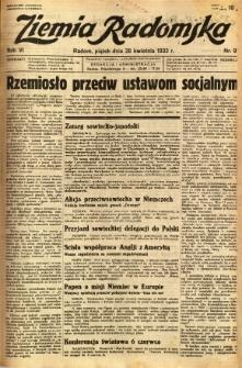 Ziemia Radomska, 1933, R. 6, nr 97