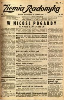 Ziemia Radomska, 1933, R. 6, nr 98