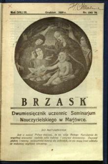 Brzask: Dwumiesięcznik uczennic Seminarium Nauczycielskiego w Mariówce, 1929, R. (7) 3, nr (26) 10