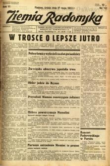 Ziemia Radomska, 1933, R. 6, nr 112
