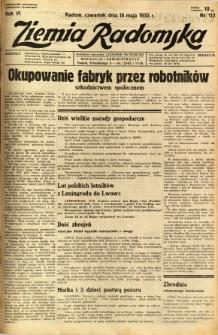 Ziemia Radomska, 1933, R. 6, nr 113