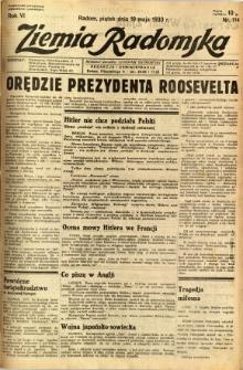 Ziemia Radomska, 1933, R. 6, nr 114