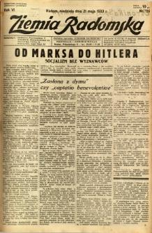 Ziemia Radomska, 1933, R. 6, nr 116