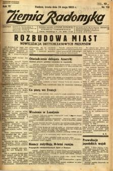 Ziemia Radomska, 1933, R. 6, nr 118