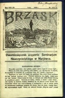 Brzask: Dwumiesięcznik uczennic Seminarium Nauczycielskiego w Mariówce, 1930, R. (7) 3, nr (27) 11