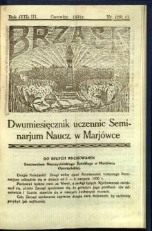 Brzask: Dwumiesięcznik uczennic Seminarium Nauczycielskiego w Mariówce, 1930, R. (7) 3, nr (29) 13