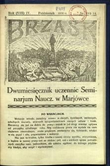 Brzask: Dwumiesięcznik uczennic Seminarium Nauczycielskiego w Mariówce, 1930, R. (8) 4, nr (30) 14