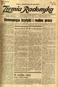 Ziemia Radomska, 1933, R. 6, nr 121