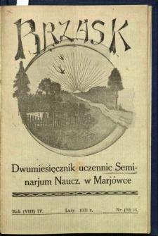 Brzask: Dwumiesięcznik uczennic Seminarium Nauczycielskiego w Mariówce, 1931, R. (8) 4, nr (32) 16