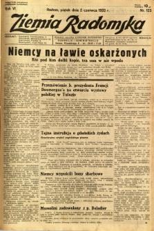 Ziemia Radomska, 1933, R. 6, nr 125