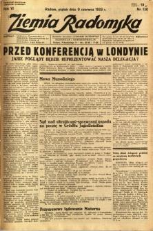 Ziemia Radomska, 1933, R. 6, nr 130