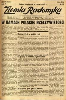 Ziemia Radomska, 1933, R. 6, nr 131