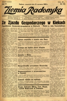 Ziemia Radomska, 1933, R. 6, nr 135