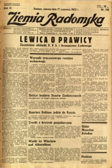 Ziemia Radomska, 1933, R. 6, nr 136
