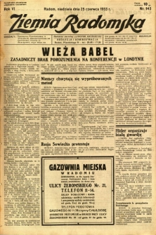 Ziemia Radomska, 1933, R. 6, nr 143