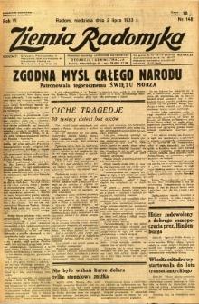 Ziemia Radomska, 1933, R. 6, nr 148
