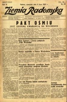 Ziemia Radomska, 1933, R. 6, nr 151