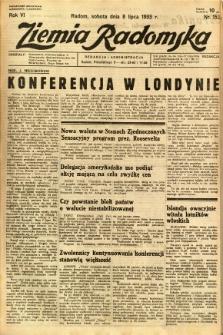 Ziemia Radomska, 1933, R. 6, nr 153