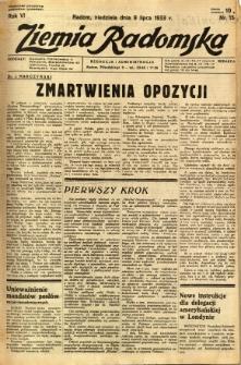 Ziemia Radomska, 1933, R. 6, nr 154
