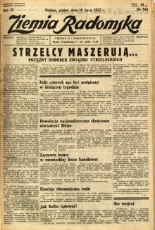 Ziemia Radomska, 1933, R. 6, nr 158