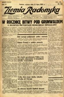 Ziemia Radomska, 1933, R. 6, nr 159