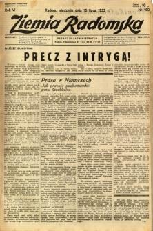 Ziemia Radomska, 1933, R. 6, nr 160