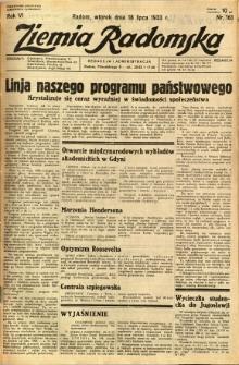 Ziemia Radomska, 1933, R. 6, nr 161