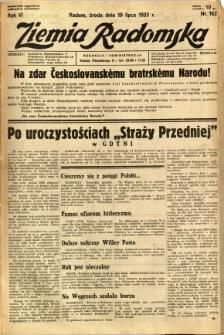 Ziemia Radomska, 1933, R. 6, nr 162