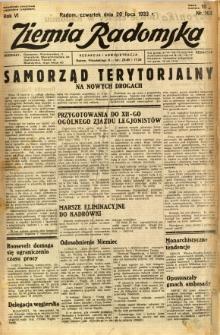 Ziemia Radomska, 1933, R. 6, nr 163