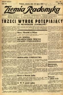 Ziemia Radomska, 1933, R. 6, nr 165
