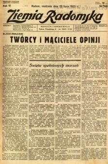 Ziemia Radomska, 1933, R. 6, nr 166