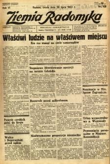 Ziemia Radomska, 1933, R. 6, nr 168