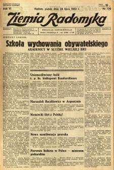 Ziemia Radomska, 1933, R. 6, nr 170