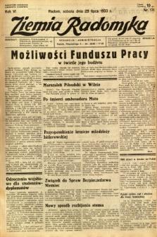 Ziemia Radomska, 1933, R. 6, nr 171