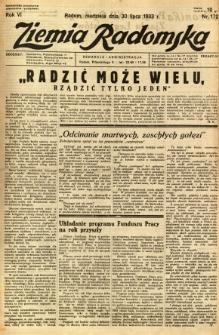 Ziemia Radomska, 1933, R. 6, nr 172