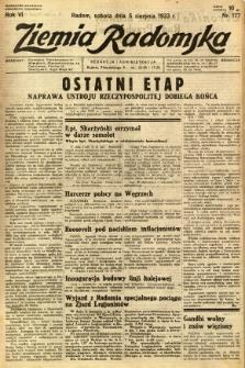 Ziemia Radomska, 1933, R. 6, nr 177
