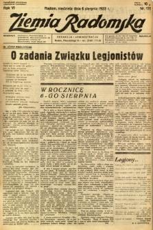 Ziemia Radomska, 1933, R. 6, nr 178