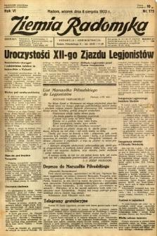 Ziemia Radomska, 1933, R. 6, nr 179