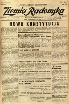 Ziemia Radomska, 1933, R. 6, nr 180