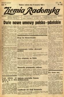 Ziemia Radomska, 1933, R. 6, nr 183