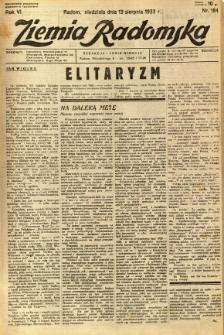 Ziemia Radomska, 1933, R. 6, nr 184