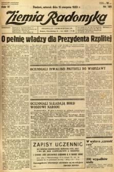 Ziemia Radomska, 1933, R. 6, nr 185