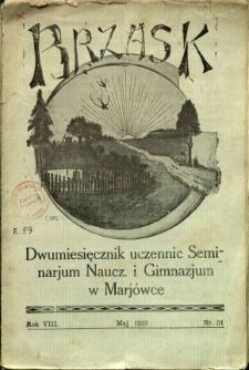 Brzask: Dwumiesięcznik uczennic Seminarium Nauczycielskiego w Mariówce, 1935, R. 8, nr 31