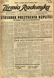 Ziemia Radomska, 1933, R. 6, nr 186