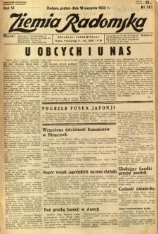 Ziemia Radomska, 1933, R. 6, nr 187