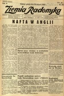 Ziemia Radomska, 1933, R. 6, nr 194