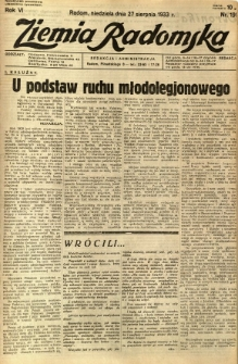 Ziemia Radomska, 1933, R. 6, nr 195