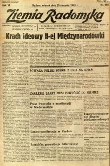 Ziemia Radomska, 1933, R. 6, nr 196